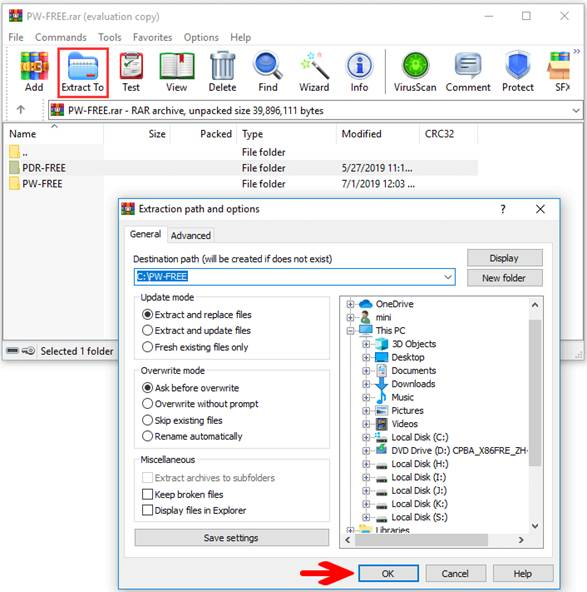 How to Open a RAR file on computer