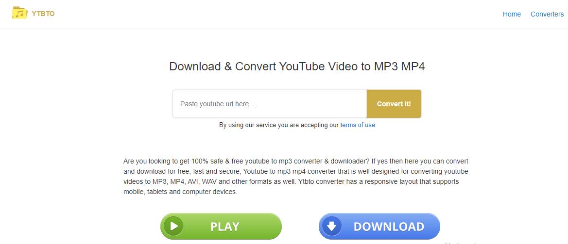 YTBTO youtube converter
